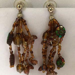 Jewelry - Amber beaded earrings
